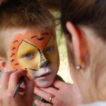 Így készül a kisgyermek tigris minta