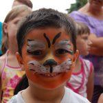 Arcfestés tigris